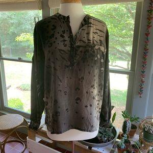 Escada silk animal print blouse